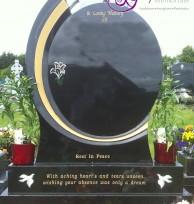 Oval Black Granite 004