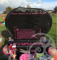 Black Granite w/ Pink Inscription 042