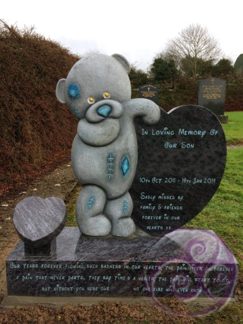 Bahama Blue Granite Teddy Bear 057