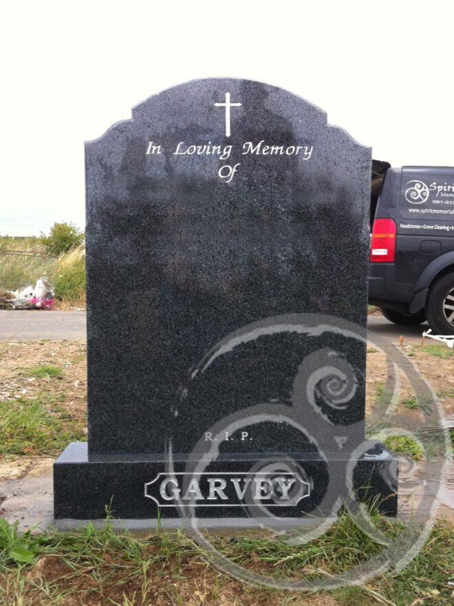 Mid Grey Granite w/ Cross 038